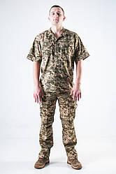 Армейская рубашка с коротким рукавом пиксель