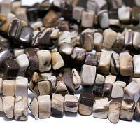 Бусины Натур Яшма крошка 4~10х4~6мм, Коричневый,  85см/нить, (УТ0011407)