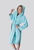 Махровый банный халат с капюшоном и карманами