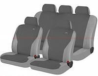 Чехлы сидения Hadar Rosen  Pass Темно-серый\светло-серый 10908 полный к-т (Ткань-Эластик)