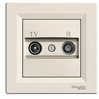 TV/R розетка проходная (8 dB) Asfora крем, EPH3300323