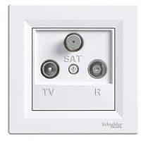 TV-R-SAT розетка концевая (1 dB) Asfora белый, EPH3500121