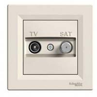 TV-SAT розетка проходная (8 dB) Asfora крем, EPH3400323