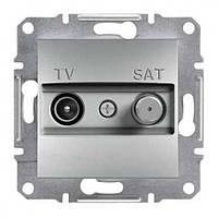 TV-SAT розетка проходная (4 dB) Asfora алюминий, EPH3400261