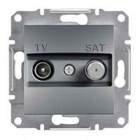 TV-SAT розетка индивидуальная (1 dB) Asfora сталь, EPH3400462