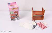"""Мебель """"Happy Family"""" (аналог Sylvanian Families) - двухэтажная кровать."""