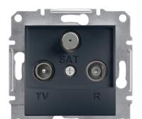 TV-SAT-SAT розетка концевая Asfora антрацит, EPH3600171