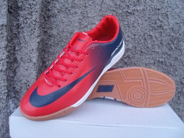 22761cc1f Кроссовки мужские Nike Mercurial футзал красно-синие (размеры 42-45) -  Интернет