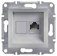 Розетка компьютерная, RJ45, кат.6, UTP Asfora алюминий, EPH4700161