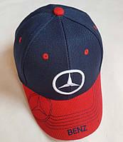 """Кепка подростковая  """"Benz"""". Размер  54-55 см. Темно-синий+красный. Оптом."""