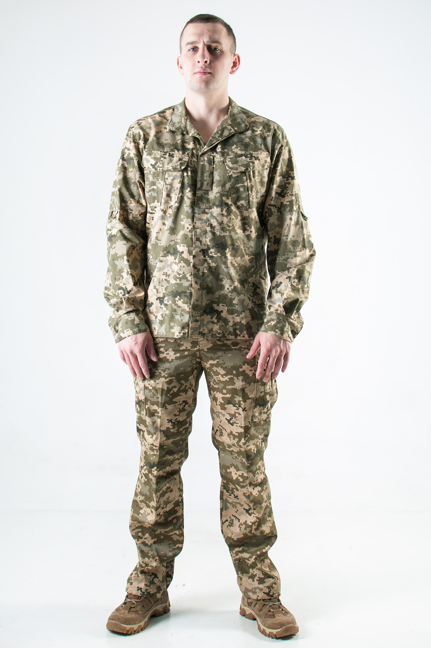 Рубашка военная с длинным рукавом Украинский пиксель