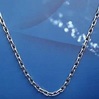 Серебряная цепочка, 550мм, 11,5 грамма, якорное плетение, чернение