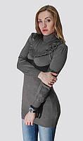 Женская туника с рюшами, 4 цвета