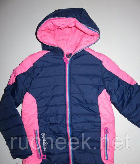 Куртки на флисе для девочек р-ры 134, 140, 152,  Венгрия, GRACE G60567