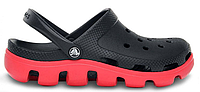 Мужские кроксы Crocs черные/красные
