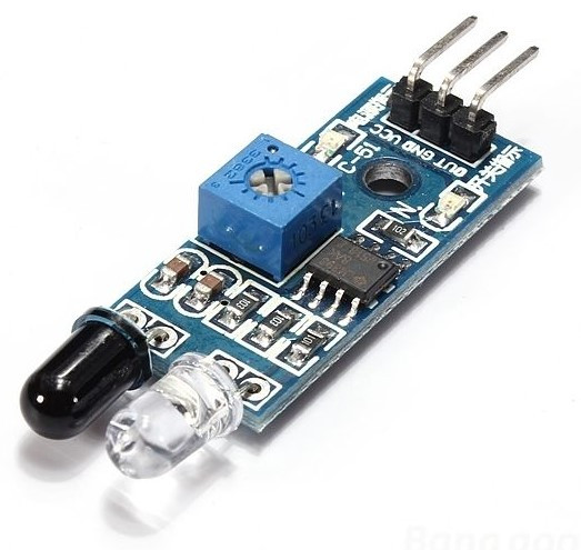 Инфракрасный датчик обхода препятствий Arduino