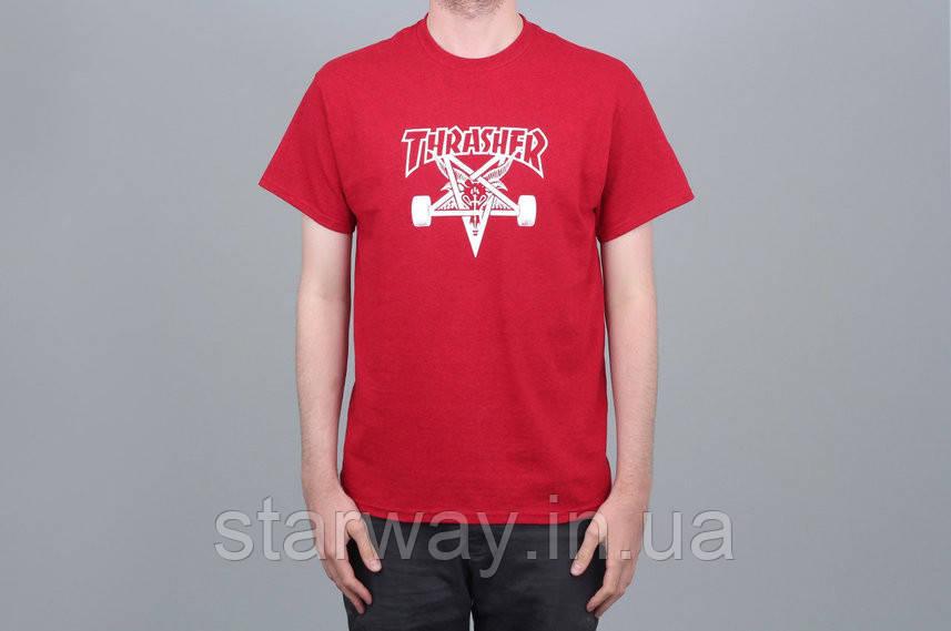 Футболка |Thrasher Skategoat Tee Antique Red|