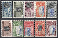 Cayman Islands 1935 SG#96-105 MLH, F/VF, фото 1