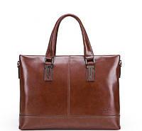 Мужская сумка-портфель. Коричневая.