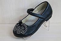 Детские черные туфли на девочку тм MXM р. 25