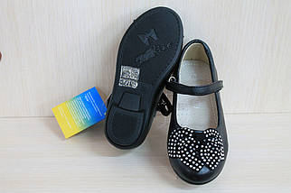Детские черные туфли на девочку тм MXM р. 25, фото 3