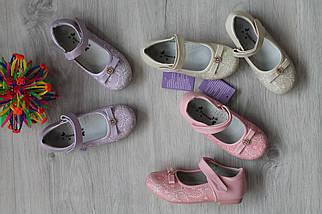 Детские туфли на девочку с нежным узором розовый цвет тм Tom.m р.25,26, фото 3