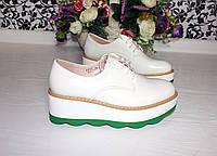 Туфли на платформе WHITE