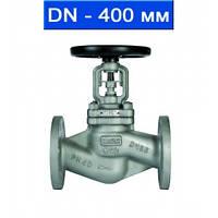 Вентиль регулировочный фланцевый, Ду 400/ 4,0 МПа/ до 350°С/ стальной корпус