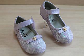 Сиреневые туфли на девочку с бантиком тм Tom.m р.25,26,27,28,29, фото 3