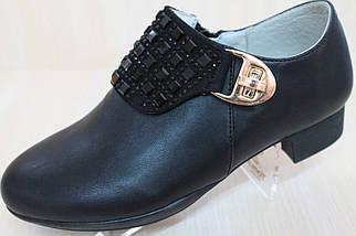 Закрытые черные туфли на девочку тм Tom.m р.36,37, фото 3