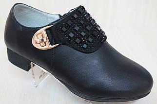 Закрытые черные туфли на девочку тм Tom.m р.36,37, фото 2