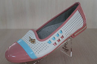 Подростковые туфли балетки на девочку серия школьная детская обувь тм Тom.m р.33,34,35, фото 3