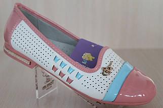Подростковые туфли балетки на девочку серия школьная детская обувь тм Тom.m р.33,34,35, фото 2
