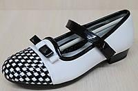 Подростковые туфли на девочку шахматы тм KLF р.33,36