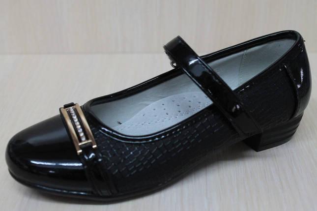 Туфли на девочку для школы с лаковым носком тм KLF р.34, фото 2