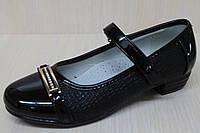 Туфли на девочку для школы с лаковым носком тм KLF р.34