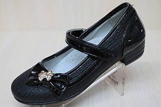 Туфли нарядные на девочку черный цвет тм KLF р.26,27, фото 3