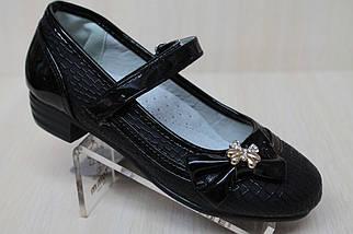 Туфли нарядные на девочку черный цвет тм KLF р.26,27, фото 2