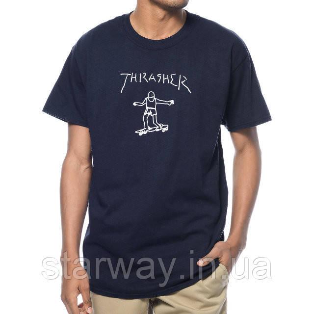Футболка стильная   Thrasher Gonz Navy logo