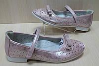 Розовые туфли на девочку серия школьная детская о-бувь тм Тom.m р.34