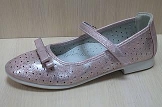 Розовые туфли на девочку серия школьная детская о-бувь тм Тom.m р.34, фото 2