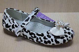 Туфли белые на девочку с леопардовым рисунком тм Tom.m р.27,28, фото 2