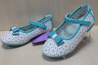 Белые туфли на девочку с лаковыми вставками мята тм Tom.m р.27, фото 3
