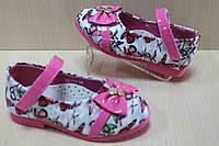 Туфли на девочку с розовым бантиком тм Y.Top р.22,23