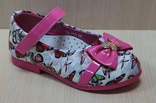 Туфли на девочку с розовым бантиком тм Y.Top р.22,23, фото 2