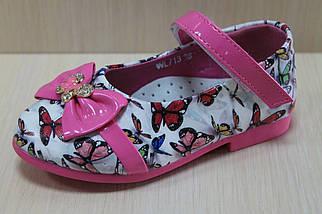 Туфли на девочку с розовым бантиком тм Y.Top р.22,23, фото 3
