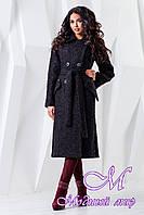 Классическое женское пальто черного цвета  батал (р. 44-54) арт. 983 Тон 21
