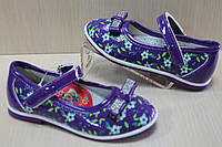 Фиолетовые лаковые туфли на девочку тм Y.Top р.21,22,23,26
