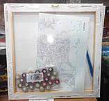 Картина по номерам без упаковки Анютины глазки, 40х50см (КНО143), фото 8