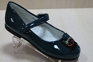 Лакированные туфли цвет изумруд на девочку тм Том.м р.27,28,31, фото 3